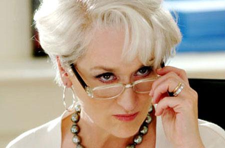 Meryl Streep as Miranda Priestley
