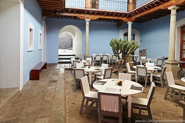 Restaurante Patio de hotel azul oaxaca