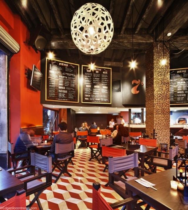 Interior de restaurante séptimo en coyoacán