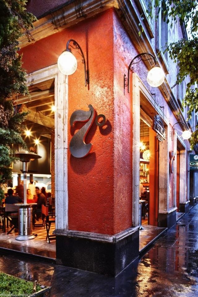 Esquina del restaurante séptimo en Coyoacán