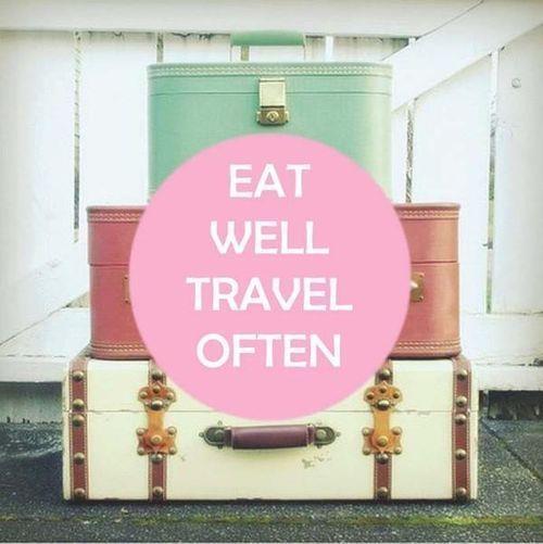 Come bien, viaja seguido