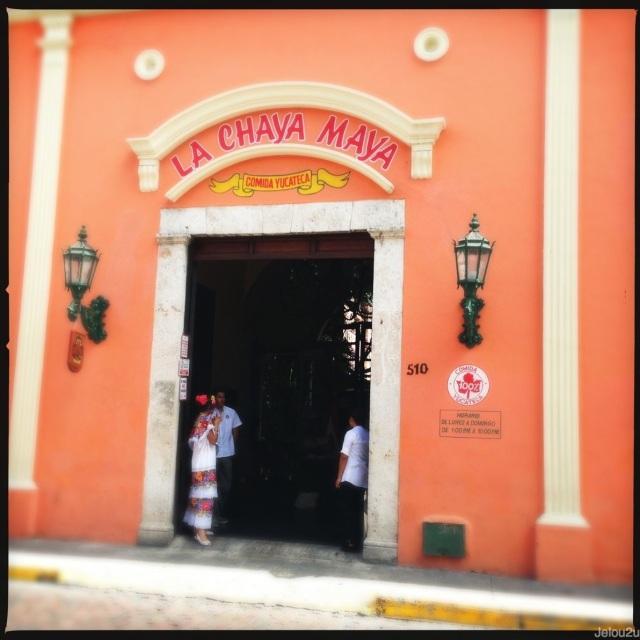 Entrada de restaurante la chaya maya