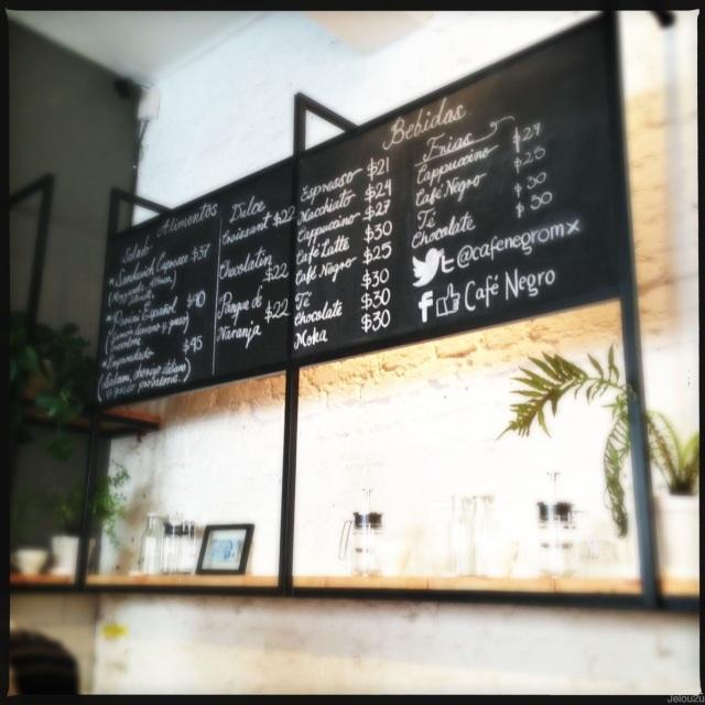 Café negro en Coyoacán