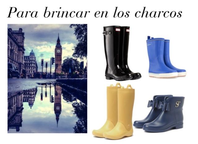 collage botas de lluvia